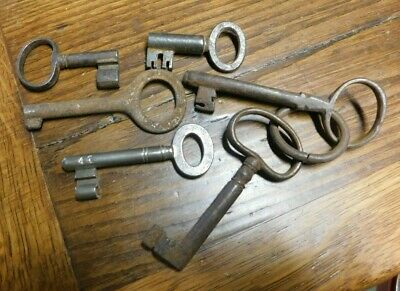 "Skeleton Key Iron Jail Jailer Door Pad Lock  Lot Blanks     ""G"""
