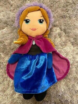 "DISNEY FROZEN ANNA PLUSH SOFT DOLL TOY APPROXIMATELY 9"" long"