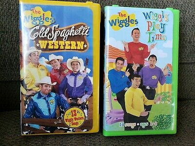 The Wiggles VHS Lot of 2 Cold Spaghetti Western & Wiggly Play Time