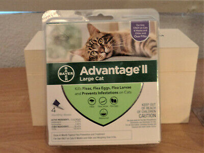 Bayer Advantage Ii Flea Control For Cats Over 9 Lbs - New 4 Pack