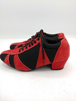 Natural spin dance shoes red black size 5 barely worn when dance meets fashion