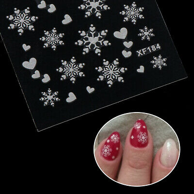 Nail Art Decor Lace Flower 3D Nail Sticker Transfer Decals Holographic Foils