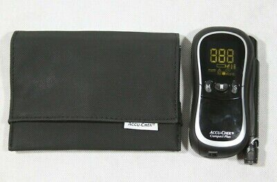 Accu-Chek Compact Plus Blood Glucose Monitoring System Meter Model GT w/ Case