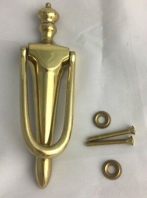 """Things Remembered Solid Brass Door Knocker 7 1/4"""""""" Gold Tone Tarnish Resistant"""