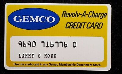 GEMCO Revolv-A-Charge  credit card♡Free Shipping♡cc922♡