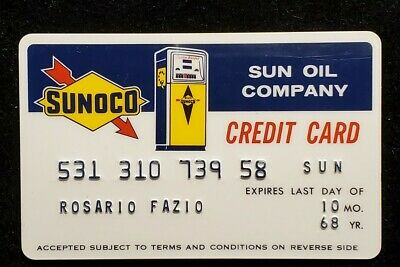 Sunoco - Sun Oil Company - Vintage Credit Card Expired 1968 ♡Free Shipping♡ cc1