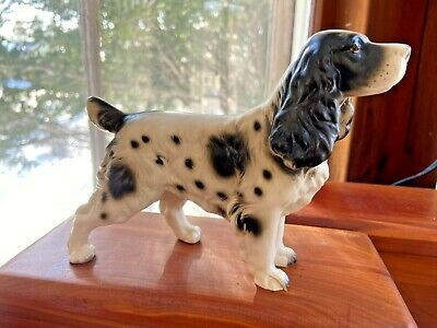 VTG Ceramic English Setter or Spaniel Nanco Japan Dog Figurine