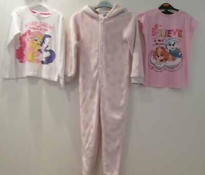 Girls Mixed Pyjamas Bundle Age 7-8 Years Skye Paw Patrol My Little Pony All In O