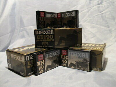 Maxell XLII-S  90 Minutes Type II High Bias Audio Cassette Tapes SEALED IN PACK
