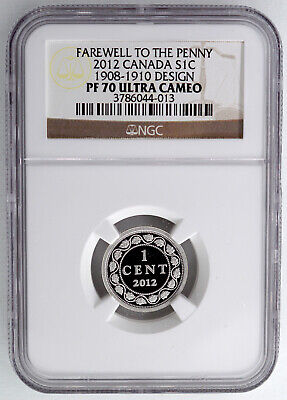 Canada 2012 Silver Proof One Cent 1908-10 Design  Ngc Pf70 Ultra Cameo Farewell