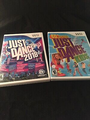 Lot Of 2 Brand New Sealed Just Dance 2018 (Nintendo Wii, 2017) & Just Dance Kids