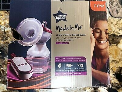 Tommee Tippee Made for Me Single Electric Breast Pump, White Damaged Box