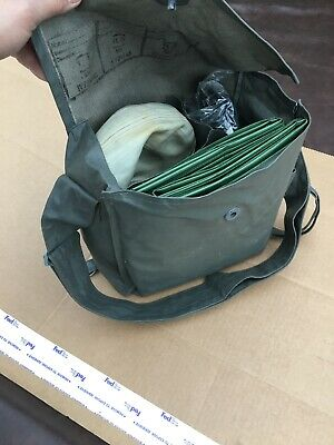 Gray Military Backpack German 1980's + Hose + Gas mask + Gloves + Suits + Filter
