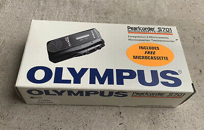 Olympus Pearlcorder S701 Microcassette Recorder + 3x MC60 Microcassettes