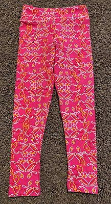 LuLaRoe Kids Pink Leggings Sz S/M SMALL MEDIUM
