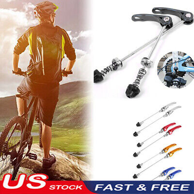 2x Set Bike Bicycle Wheel Hub Front and Rear Tire Quick Release QR Skewer NEW US