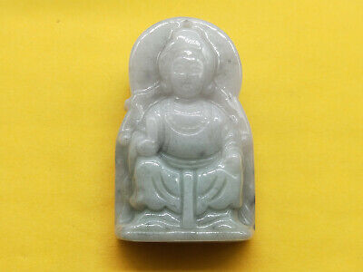 AAAAA Chinese Hand-carved aristocratic wearing Jadeite jade pendant Mazu