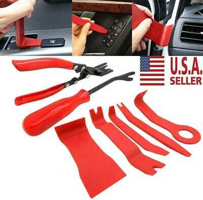 7pcs BODY REMOVING TOOLS & CAR DOOR UPHOLSTERY TRIM CLIP REMOVAL PLIERS USA