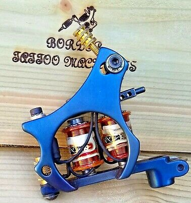 Border Tattoo Machine Shader/Packer Iron Blued Frame Custom 8 Layer 32Mm Coils