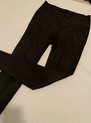 Ripe Maternity Leggings/Pants - Wet look Black - Size Small