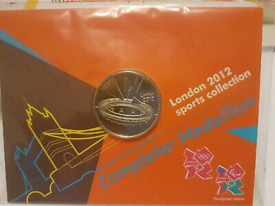 London 2012 Olympic 50p COMPLETER MEDALLION coin sealed