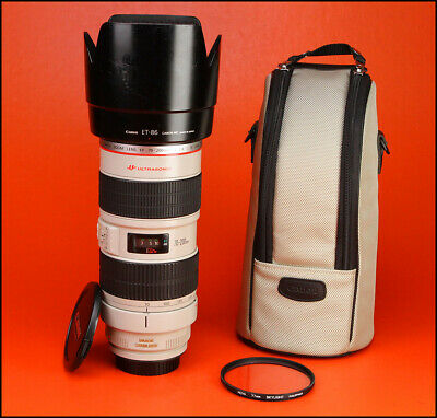 Canon EF 70-200mm Image Stabilizer F2.8 L IS USM Zoom Lens with Caps,Hood & Case