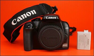 Canon EOS 1000D DSLR Camera Body - Sold with Battery 1,230 Shots