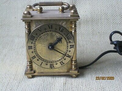 Antique Brass Carriage Clock Type Made In England
