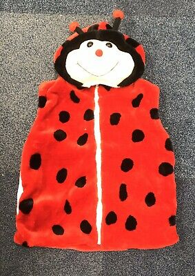 Ladybird Hooded, Short Sleeved Fleece - Size M