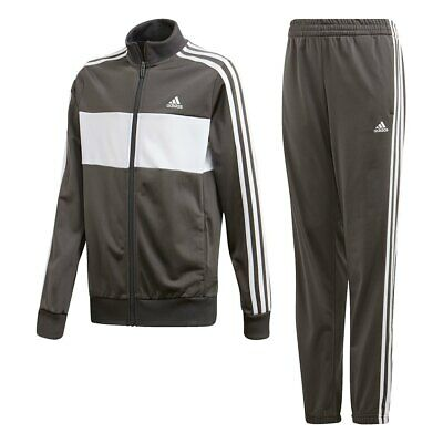 Adidas Boys Tracksuit Tiberio Kids Tracksuits Bottoms Full Zip Jogging Suit M L