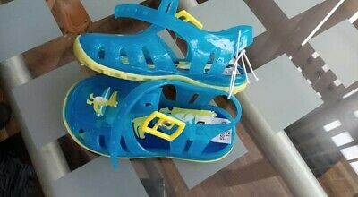 Infant Size 5 (21.5) Sandals Jellies Mothercare Blue Yellow Crocodile BNWT