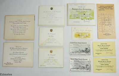 Group of Political Documents - Roosevelt White House Invitations Inagural Ticket