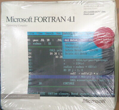 MICROSOFT FORTRAN 4.1 Optimizing Compiler, 1988 - BRAND NEW, SEALED