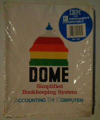 Dome Simplified Bookkeeping System Accounting By Computer 1989 IBM/Commodore