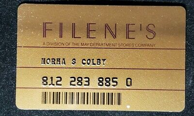 Filene's charge card♡Free Shipping♡cc1046♡