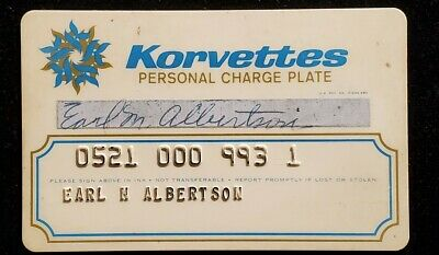 Korvettes personal charge plate charge card♡free shipping♡cc1078♡