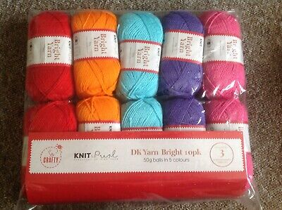 Loweth Knitting Yarn Variety Pack DK Assorted Colours LCK5 per pack of 5