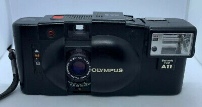 Olympus XA2 With A11 Flash Olympus D-Zuiko 1:3.5 f=35mm Lens Film Camera Vintage