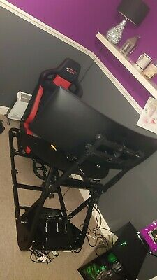 racing seat sim rig wheel stand cockpit gamer chair