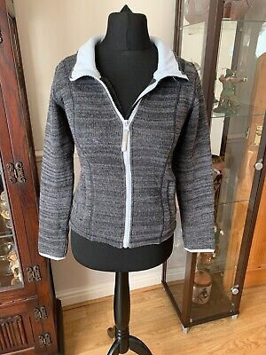 Boys Grey Zip Up Cardigan From Bench Size 11-12 Years 152 Cm