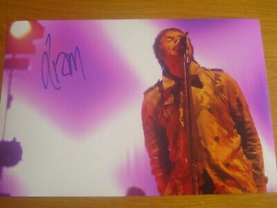 Liam Gallagher Original Hand-Signed Autograph Photograph Size 12X8 With Coa