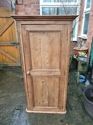 Vintage Rustic Wooden Old Pine Cupboard Wardrobe Linen Store - Can Deliver