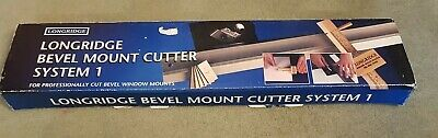 Longridge Bevel Mount Cutter System 1 Complete With Instructions