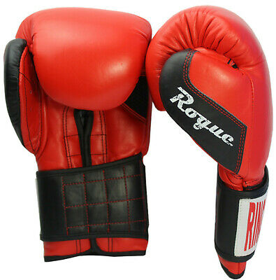 Boxing Gloves Leather MMA Muay Thai Punch Bag Kickboxing Sparring 12oz Mitts
