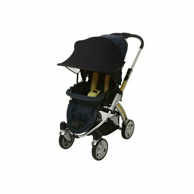 Manito Sun Shade for Strollers and Car Seats (Black) UPF 50+ Black