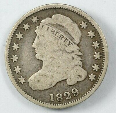 1829 Capped Bust Silver Dime 10C