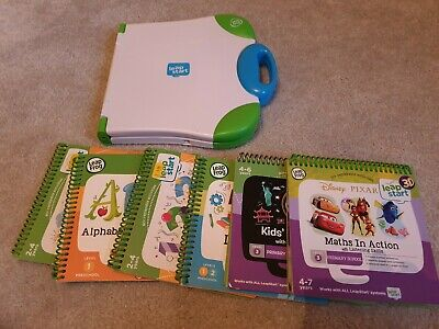 Leap Start Leap Frog Learning System Game Complete With 6 Books Bundle