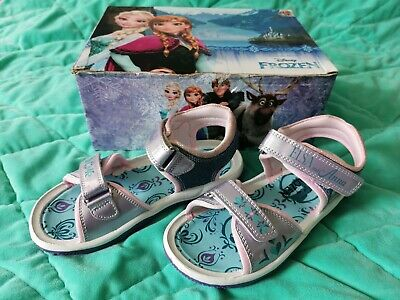 Frozen Elsa and Anna Disney Summer shoes girls Sandals. Lilac Purple Size 12 NEW