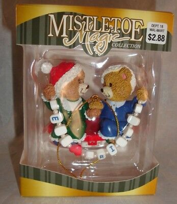 Mistletoe Magic Bears Best Friends Ornament by Trevco NIB