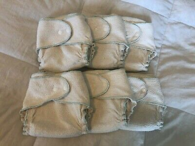 Babee Greens fitted cloth diapers & merino wool cover